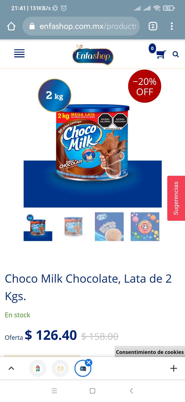 Enfashop: Chocomilk lata 2 Kg