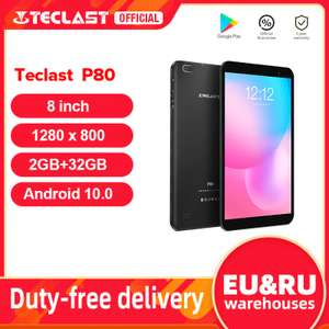 AliExpress, Tableta Android Teclast P80 con Android 10 y pantalla HD