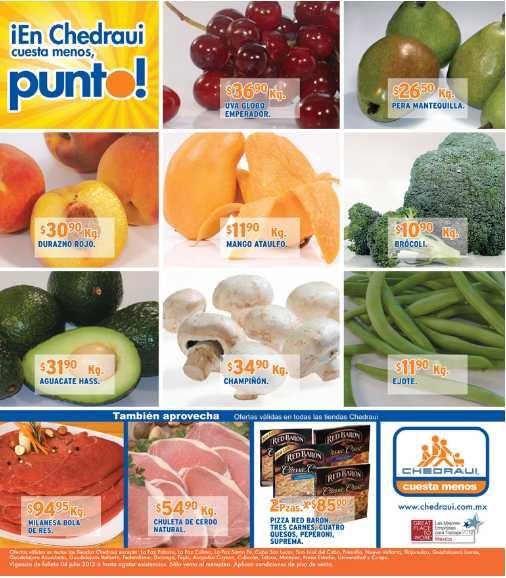 Miércoles de frutas y verduras en Chedraui julio 4: chayote $5.90, piña $6.50 y más