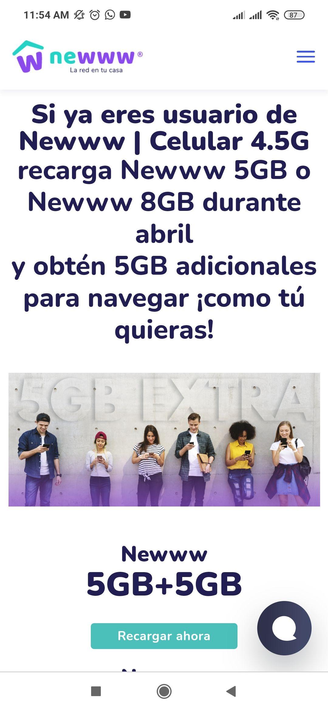 5 GB gratis en Newww