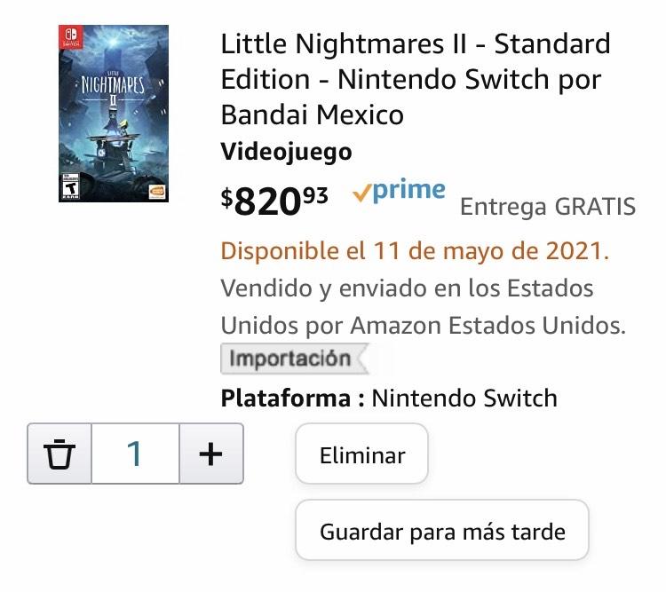 Amazon: Little Nightmares II - Standard Edition - Nintendo Switch