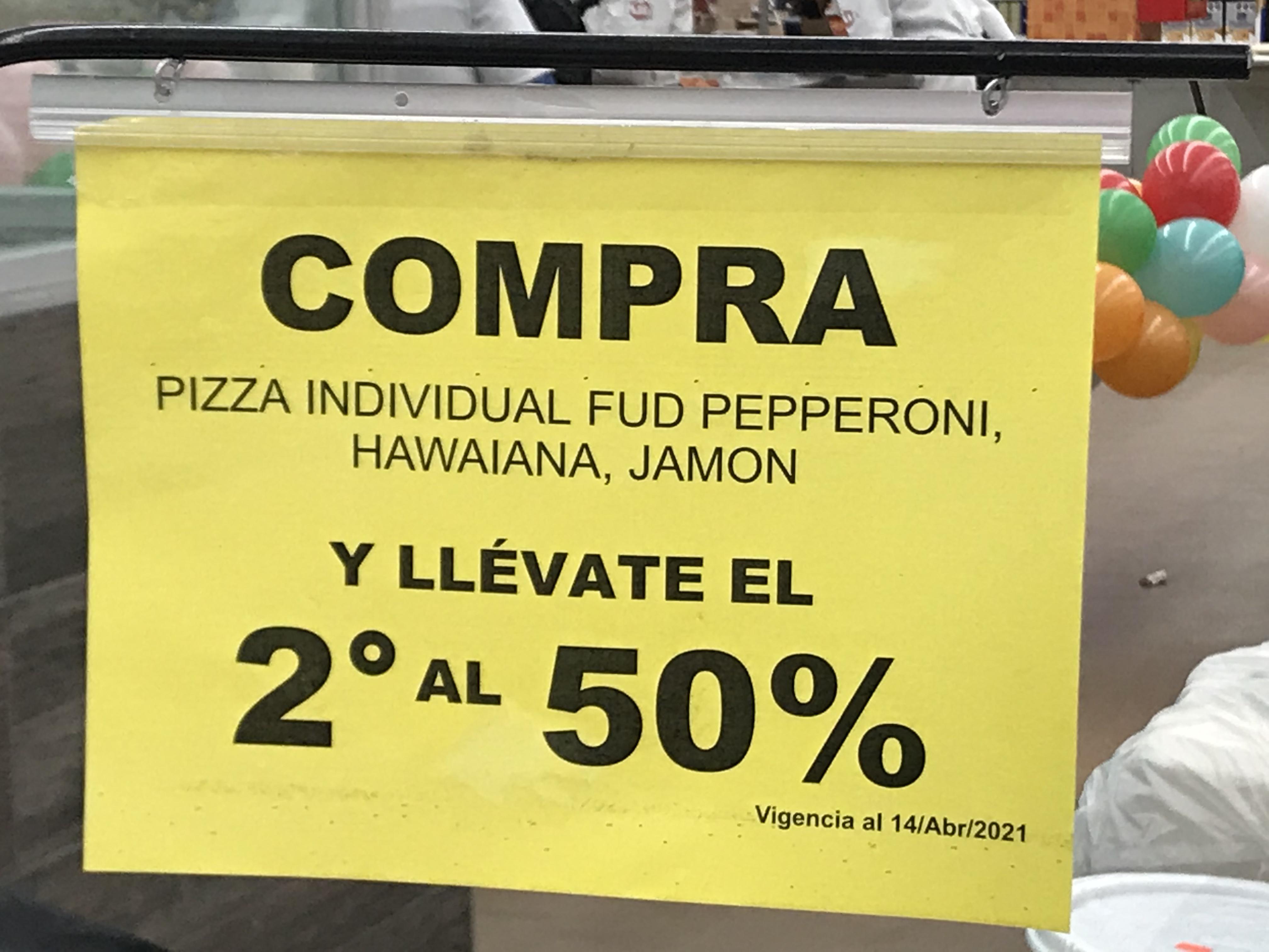 Soriana: 2 por 1 y 1/2 en Pizzas Individuales FUD