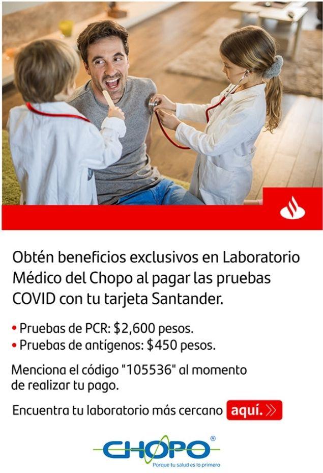 Pruebas COVID Laboratorio CHOPO