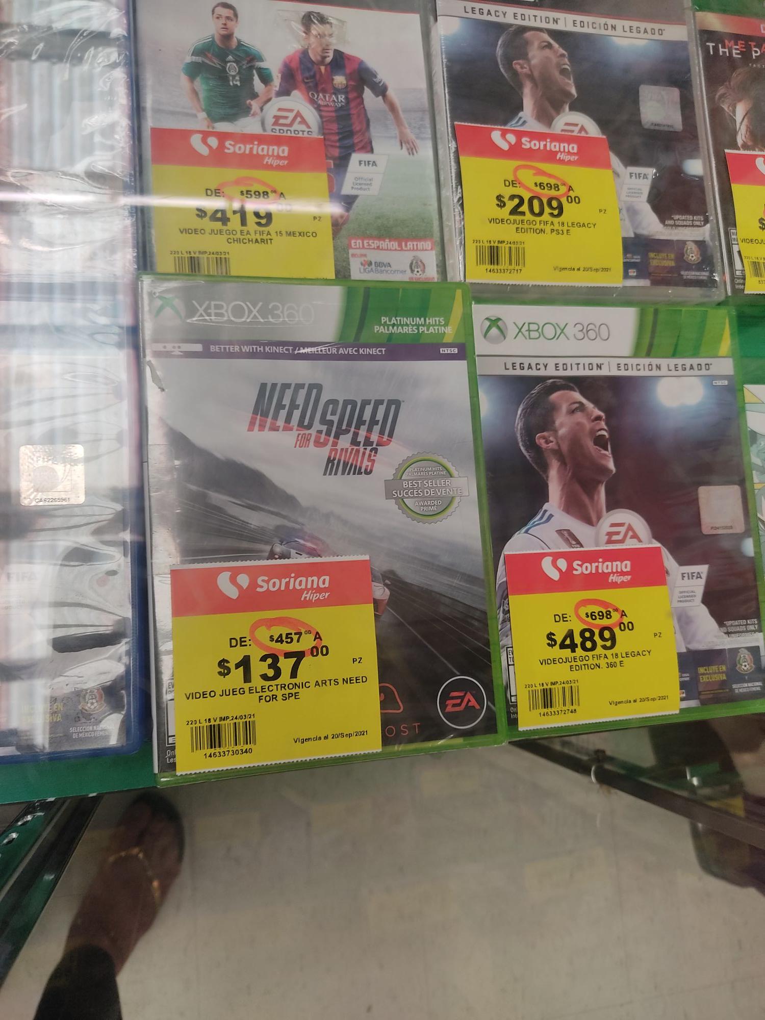 Juego para Xbox 360. NEED FOR SPEED RIVALS En liquidación Soriana sucursal Diana Acapulco