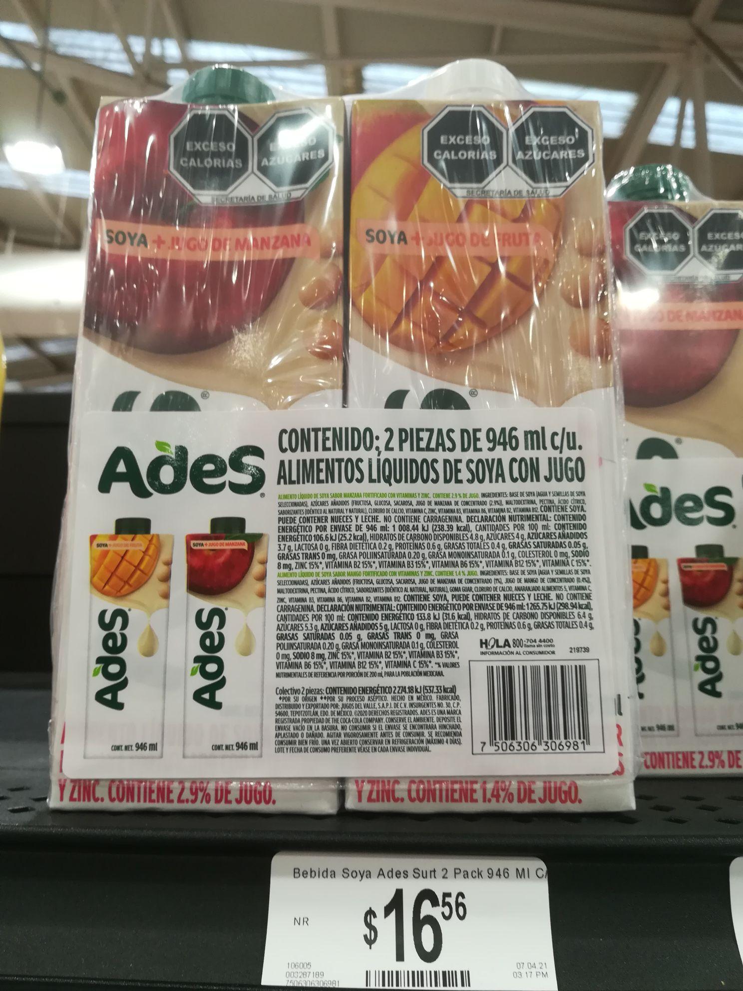Chedraui: Jugo Ades Manzana mas Mango