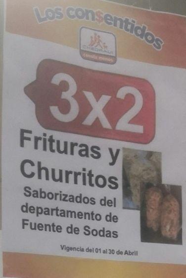 Chedraui: 3 x 2 en frituras y churritos saborizados del departamento de Fuente de Sodas