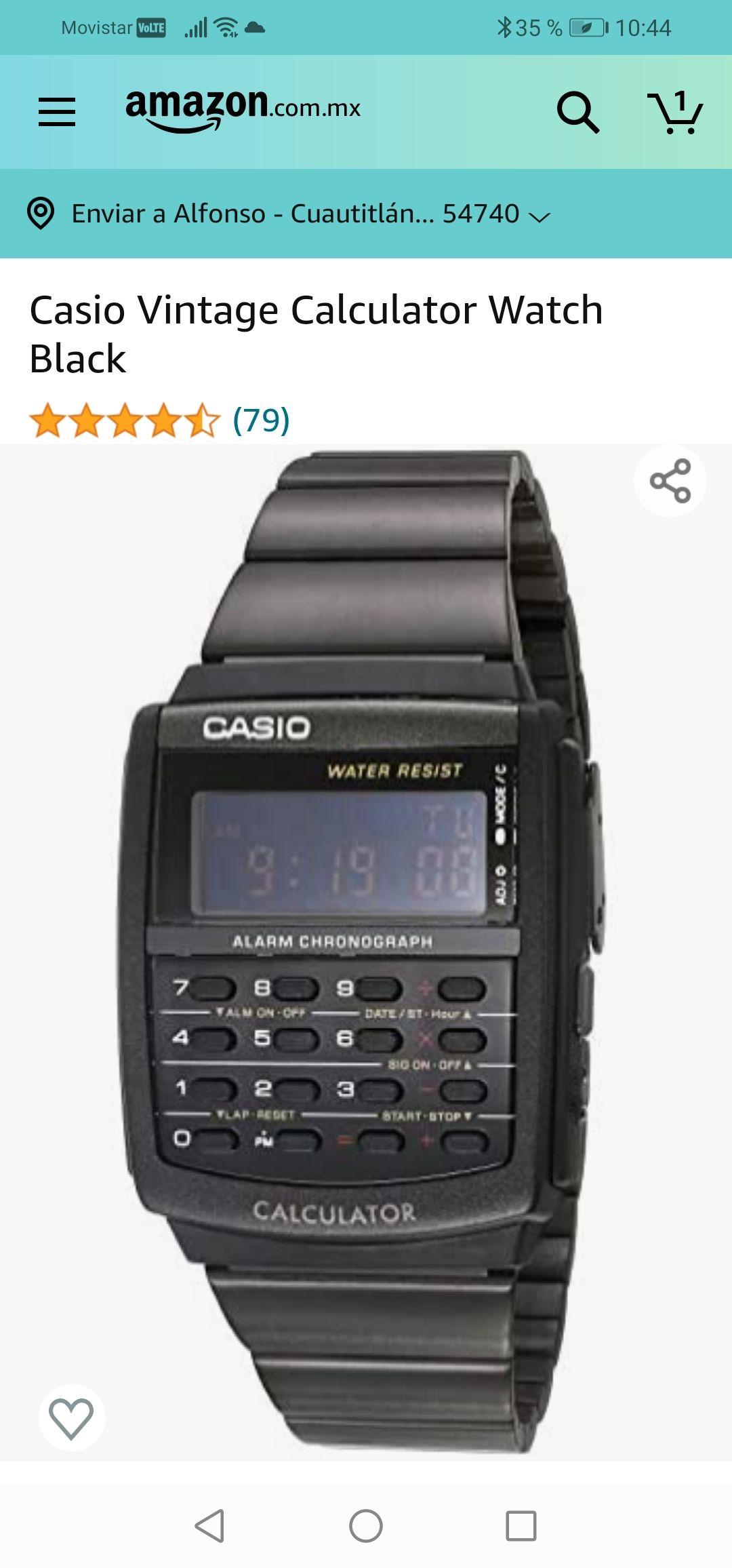 Amazon: Casio Vintage Calculator Watch Black