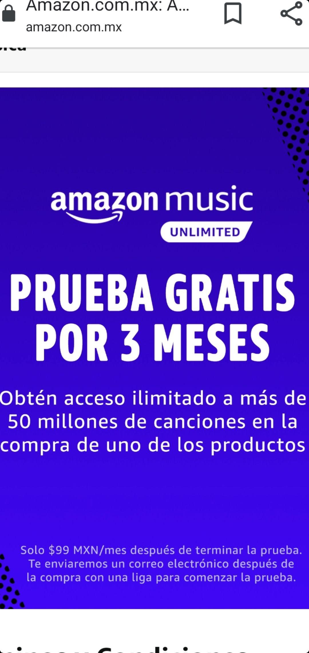 AMAZON MUSIC UNLIMITED GRATIS POR 90 Días En la compra de cualquier producto POWERADE