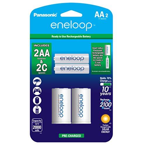 Amazon, Panasonic eneloop AA 2100 nuevo ciclo, Paquete C Spacer