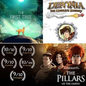 Epic Games: GRATIS Deponia: The Complete Journey / The First Tree / Ken Follett's The Pillars of the Earth 15/04