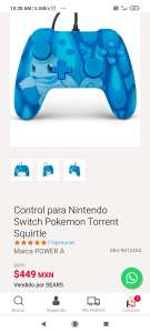 Sears: Control para Nintendo Switch Pokémon Torrent Squirtle charmander y bulbasaur