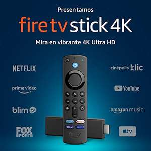 Amazon: Fire TV Stick 4K con control remoto por voz Alexa (incluye control de TV) y Dolby Vision