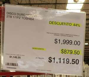 City Club: Disco duro externo Toshiba negro 2tb