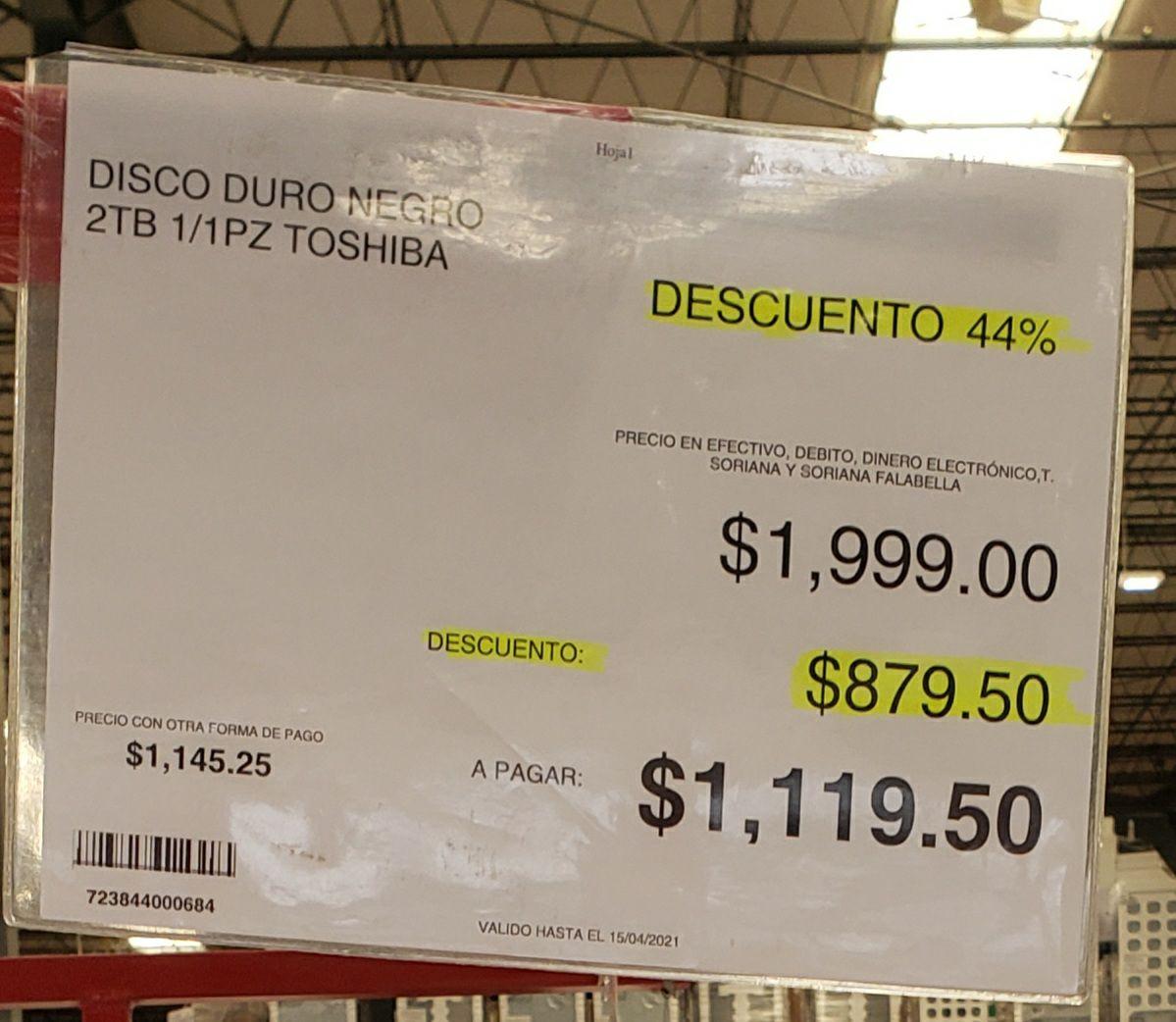 City Club: Disco duro externo Toshiba negro 2tb