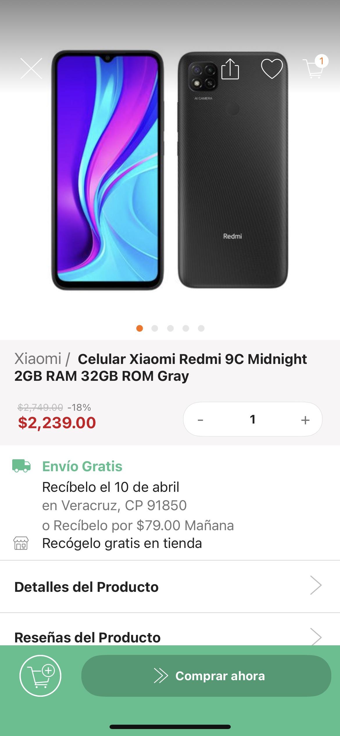 Linio: Xiaomi Redmi 9c 2/32GB con Paypal