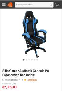 Linio: Silla Gamer Audiotek Ergonomica Reclinable