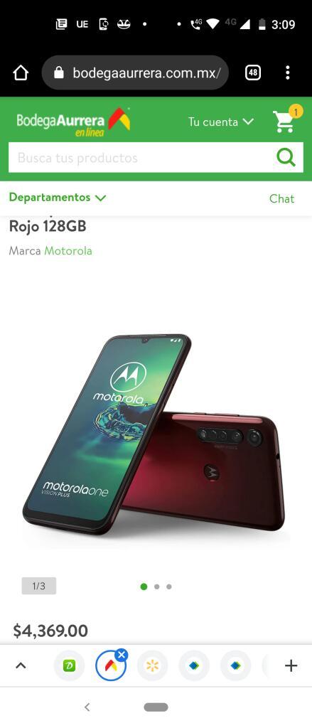 Bodega Aurrerá Smartphone Motorola One Vision Plus Rojo 128GB