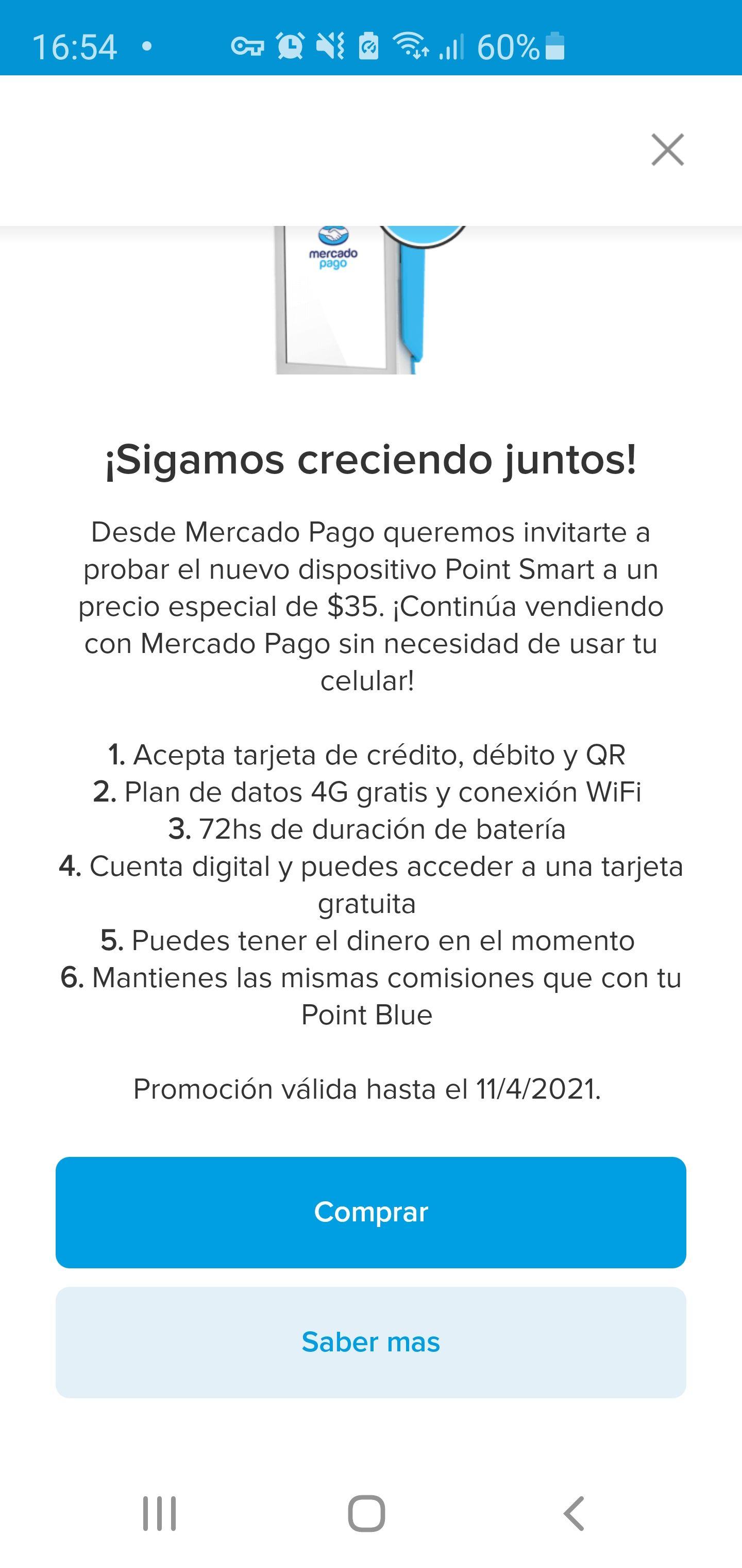 Mercado Pago: Nuevo lector