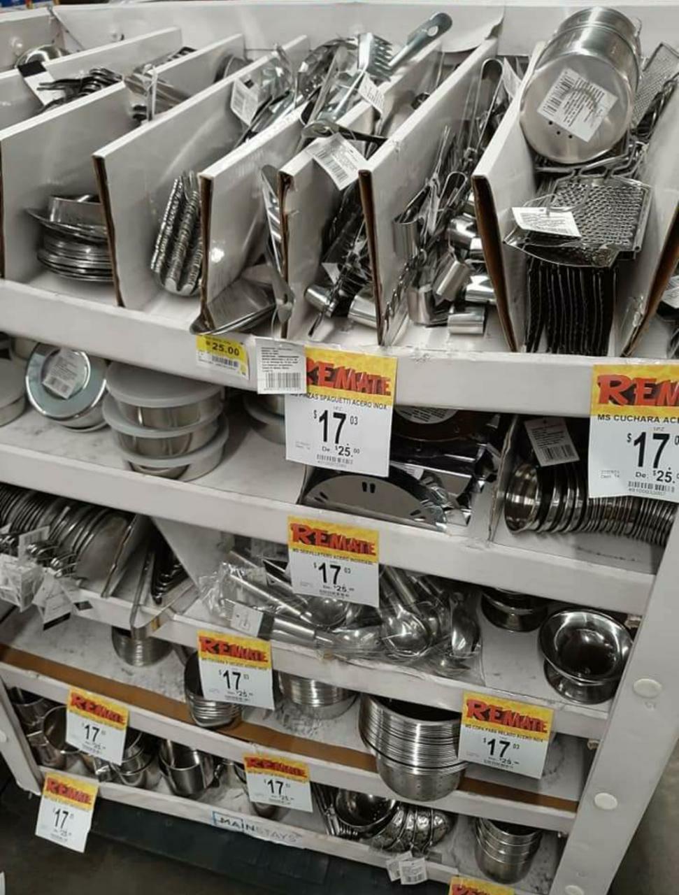 Bodega Aurrerá Veracruz: Productos de acero inoxidable