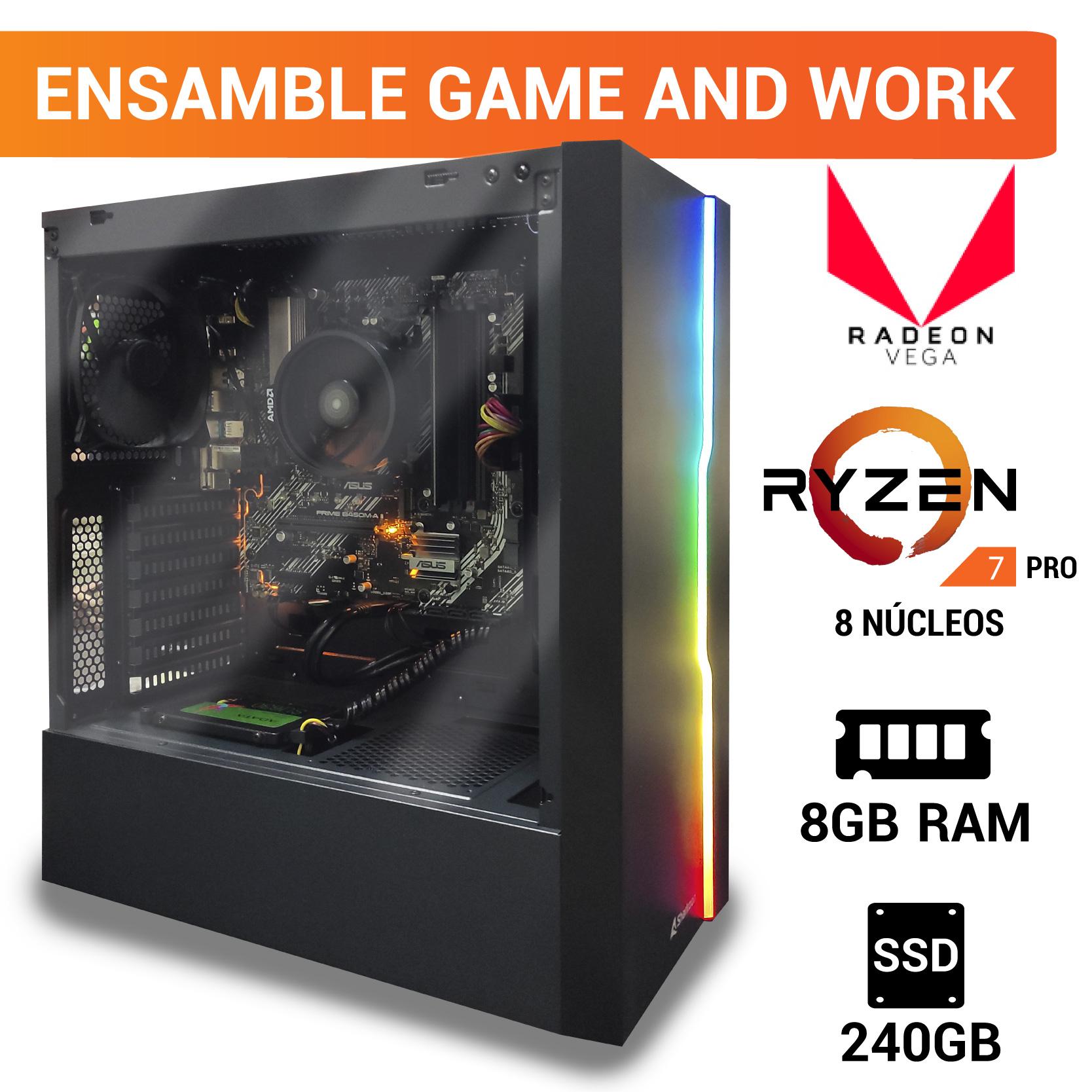 Digitalife: Ryzen 7 Pro 4750G - Asus Prime B450M-AII - 8 Gb Ram PC Ensamblada