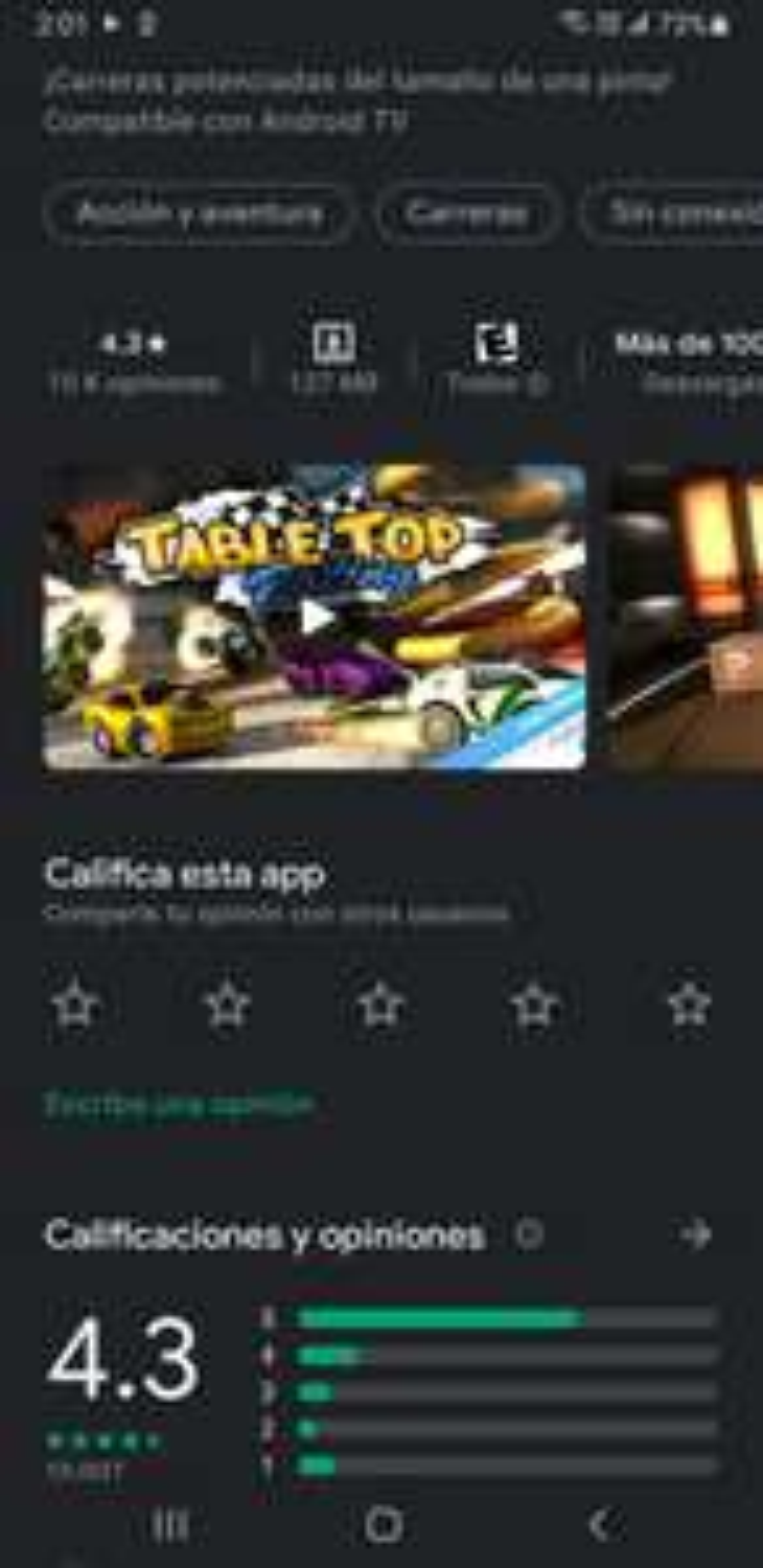 Google Play: Table top racing premium gratis