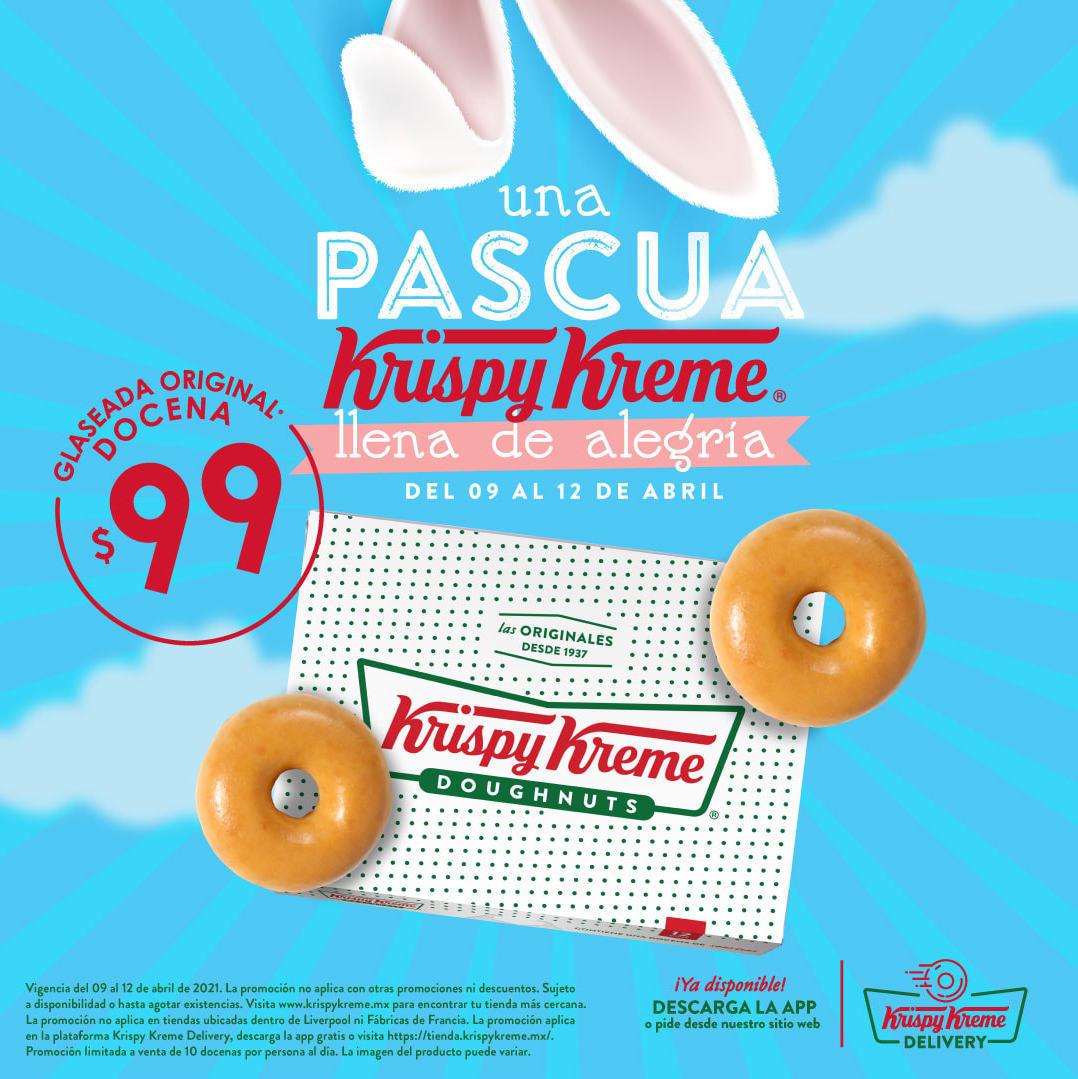 Krispy Kreme Pascua: Docena de Donas Glaseadas