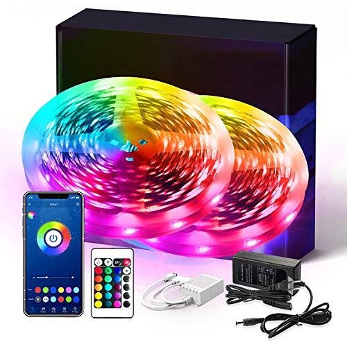 Amazon: 2 Tiras led RGB 5050 de 10m Compatibles con Alexa y Google