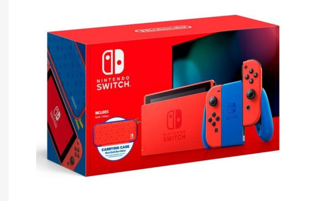 Chedraui:Consola Nintendo Switch Mario Azul & Rojo (Banorte)
