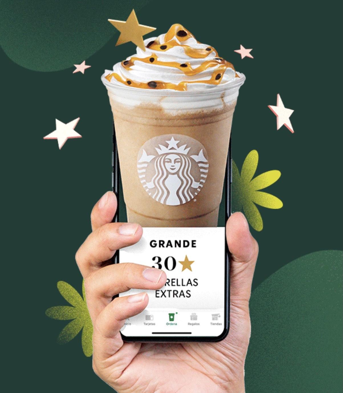 Starbucks: Obtén hasta 50 estrellas ordenando desde la app (SOLO HOY)