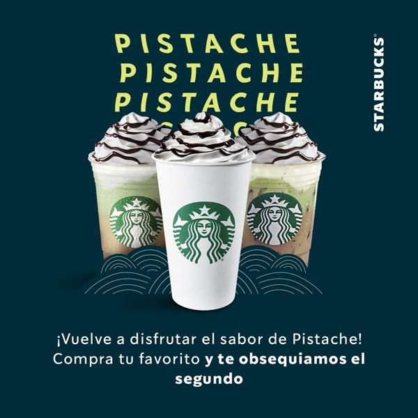 Starbucks: 2x1 en bebidas pistache mocha (cupón)
