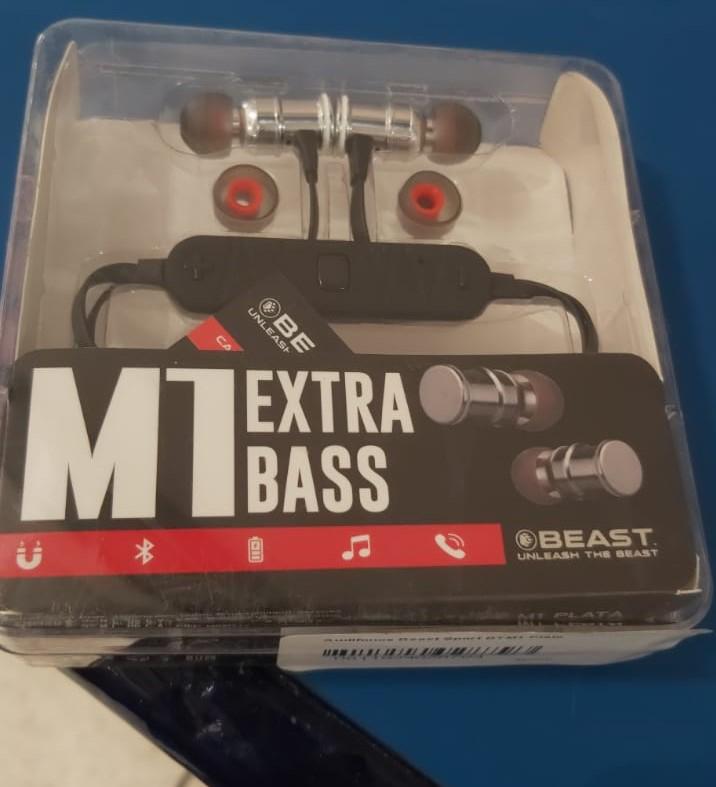 Chedraui Morelia: Audífonos beast Sport Bt m1 plata M1 Extra Bass