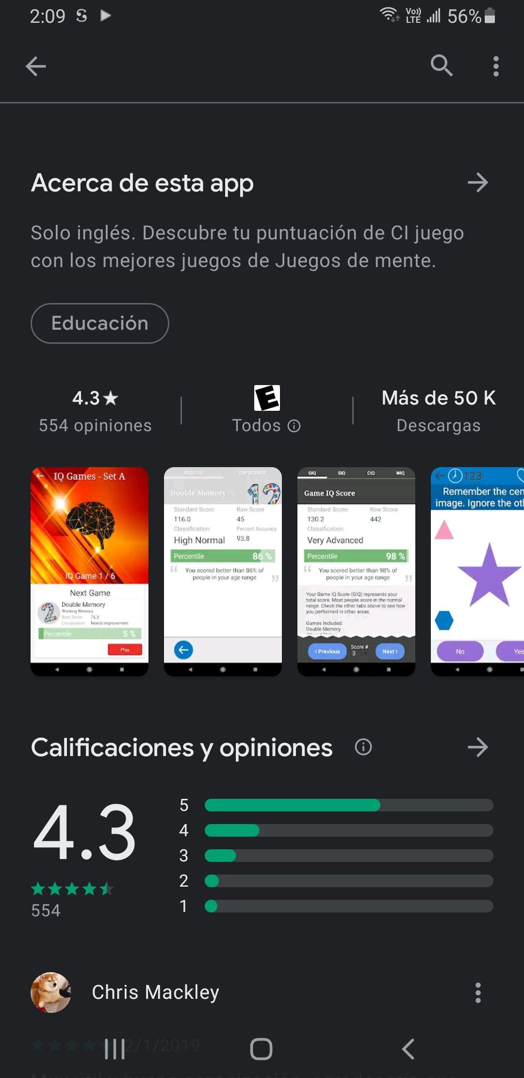 Google Play: IQ games pro