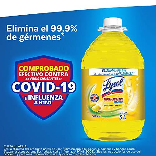 Amazon: Lysol Desinfectante Multiusos, 5 L, cupón 10% y Planea y Ahorra