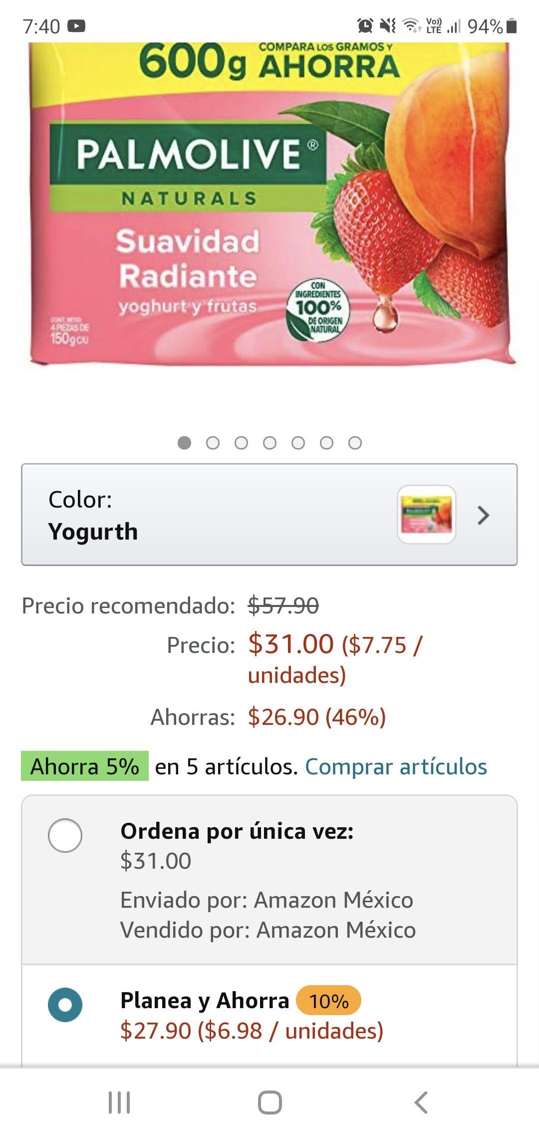 AMAZON 4 BARRAS PALMOLIVE NATURALS LAVANDA 150 G C/U ( Y MAS AROMAS EN DESCRIPCIÓN)