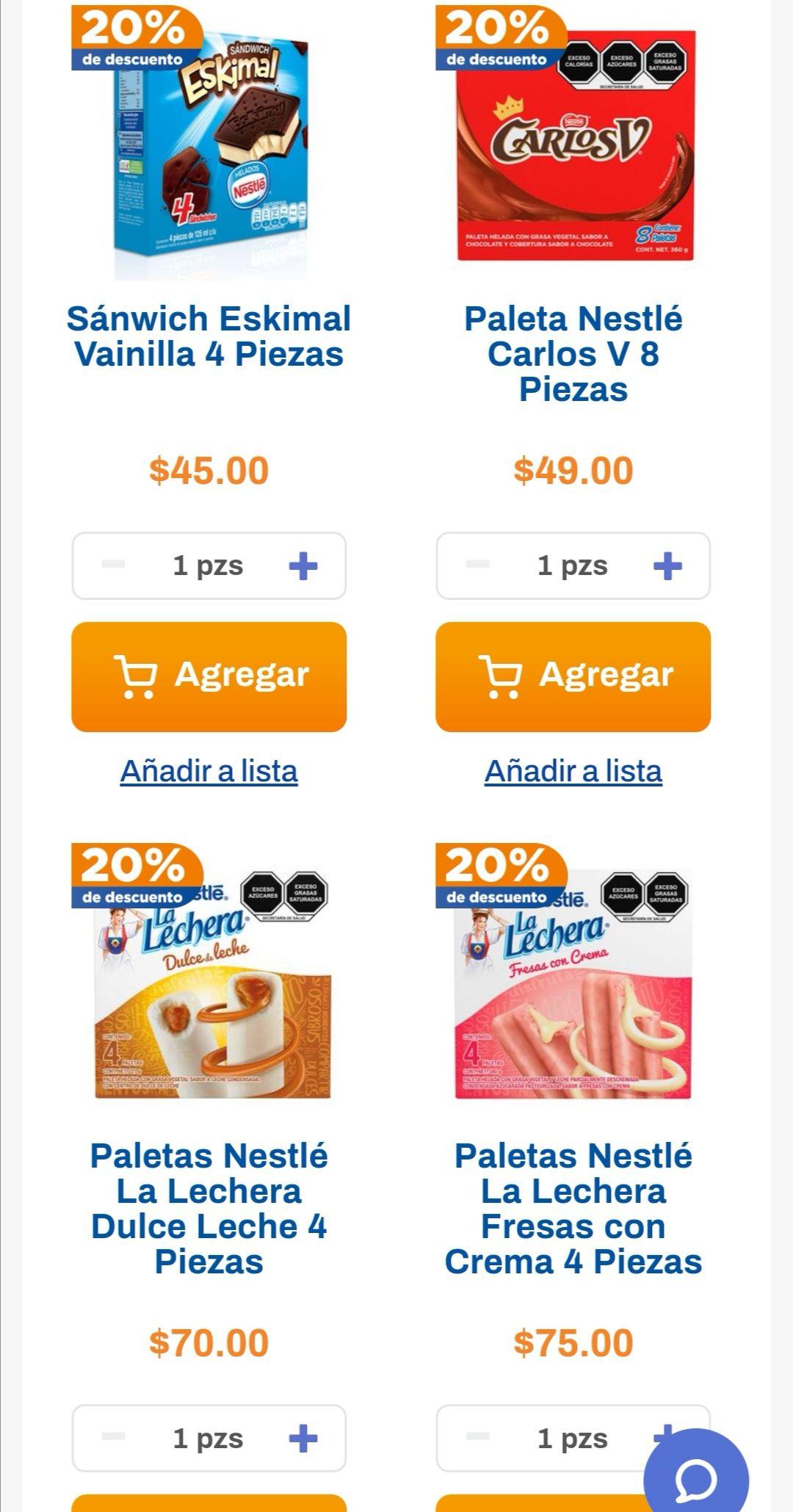 Chedraui: 20% de descuento en la compra a partir de 2 Multipacks de paletas Nestlé