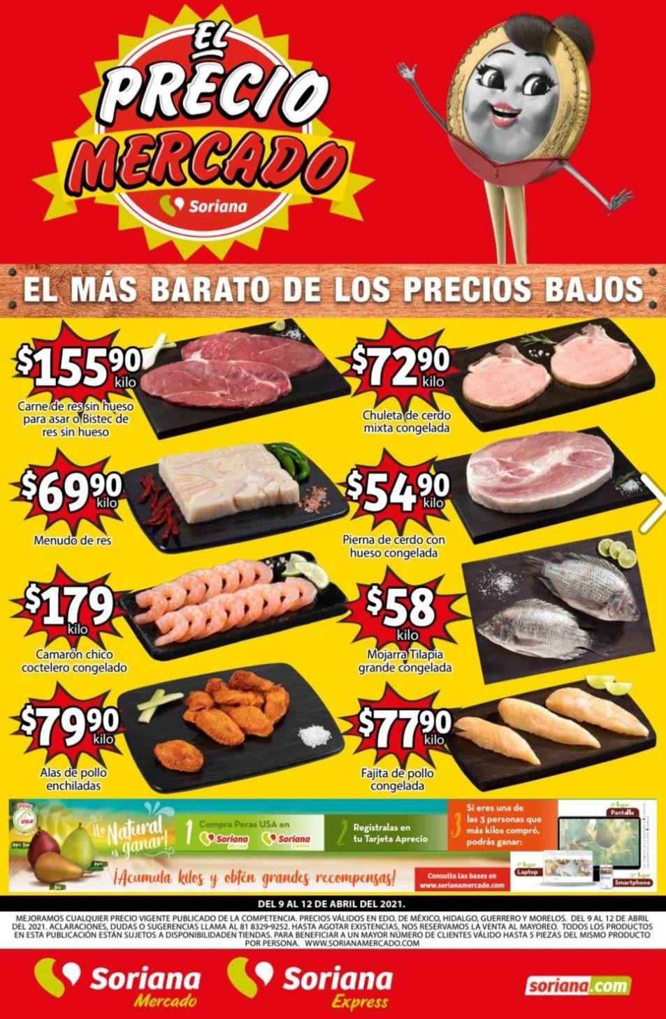 Soriana Mercado y Express: Volante de Ofertas Fin de Semana del Viernes 9 al Lunes 12 de Abril