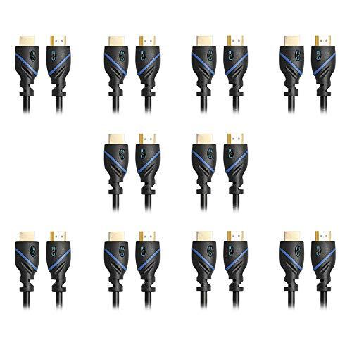 Amazon: Paquete de 10 cables HDMI High Speed 90cm