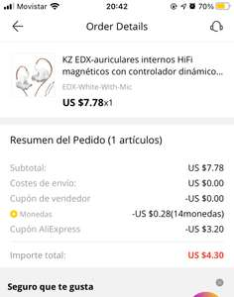 AliExpress: Audífonos KZ EDX