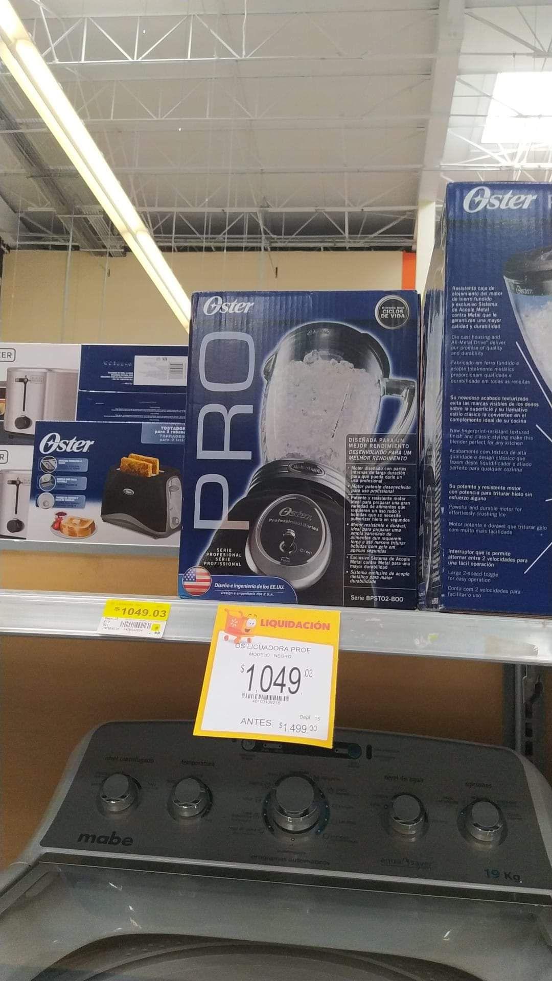 Walmart: Licuadora Oster PRO, de palanquita.