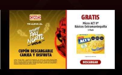 OXXO: Gratis Palomitas ACT II 3PACK