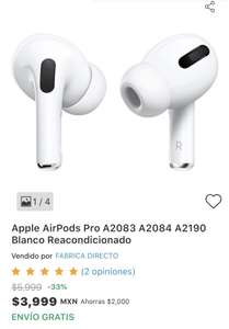 Claroshop: AirPods Pro REACONDICIONADO
