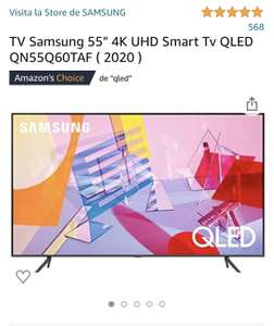 Amazon: TV Smart Samsung QLED 55""
