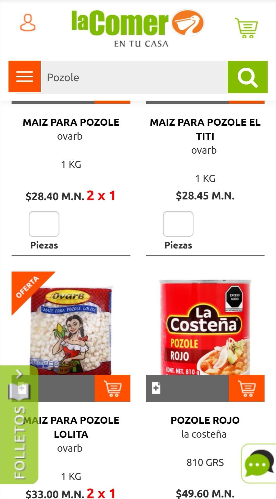 La Comer: 2 x 1 en maíz para pozole Ovarb ó Lolita