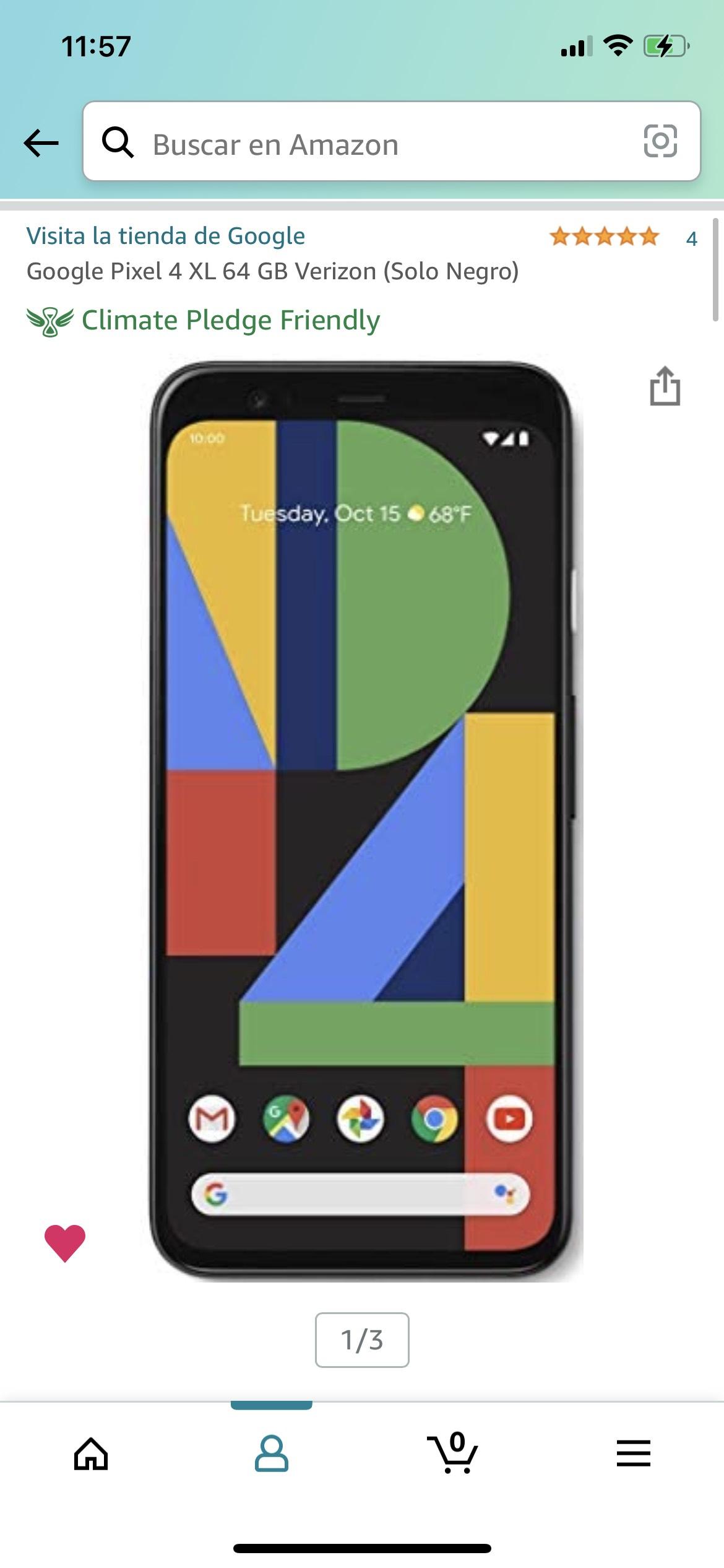 Amazon USA,Google Pixel 4 XL 64 GB reacondicionado Verizon.