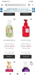 Bath & Body Works: Jabones de mano de Bath and Body Works $89