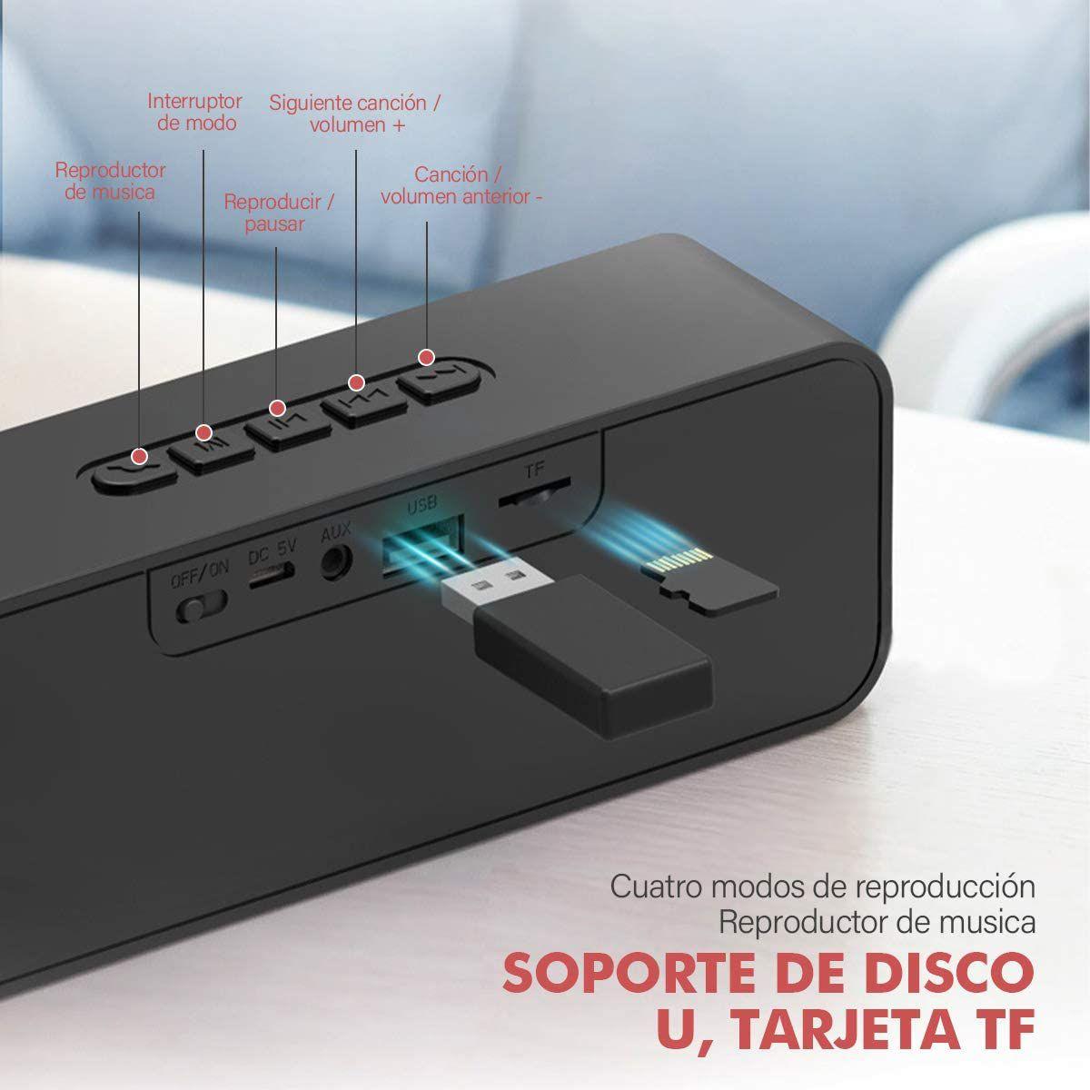 Amazon: Bocina Bluetooth 5.0 Portátil