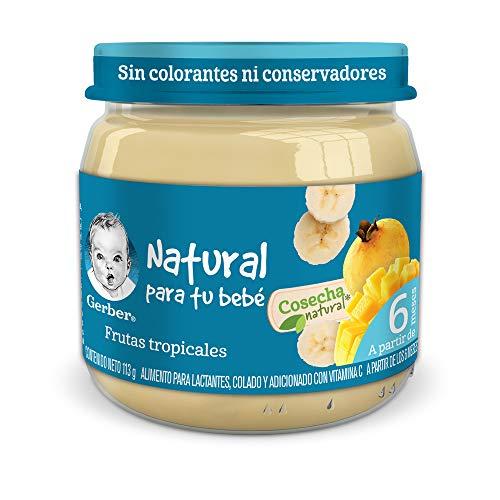 Amazon: Papilla Gerber Cosecha Natural Etapa 2 Frutas Tropicales 113g paquete de 24