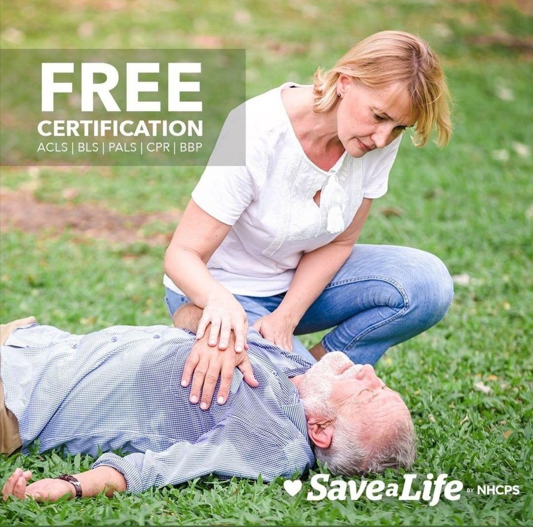 BLS, ACLS, PALS Certificación gratis por la Nhcps.com