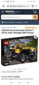 Amazon : LEGO Kit de construcción Technic™ 42122 Jeep® Wrangler (665 Piezas