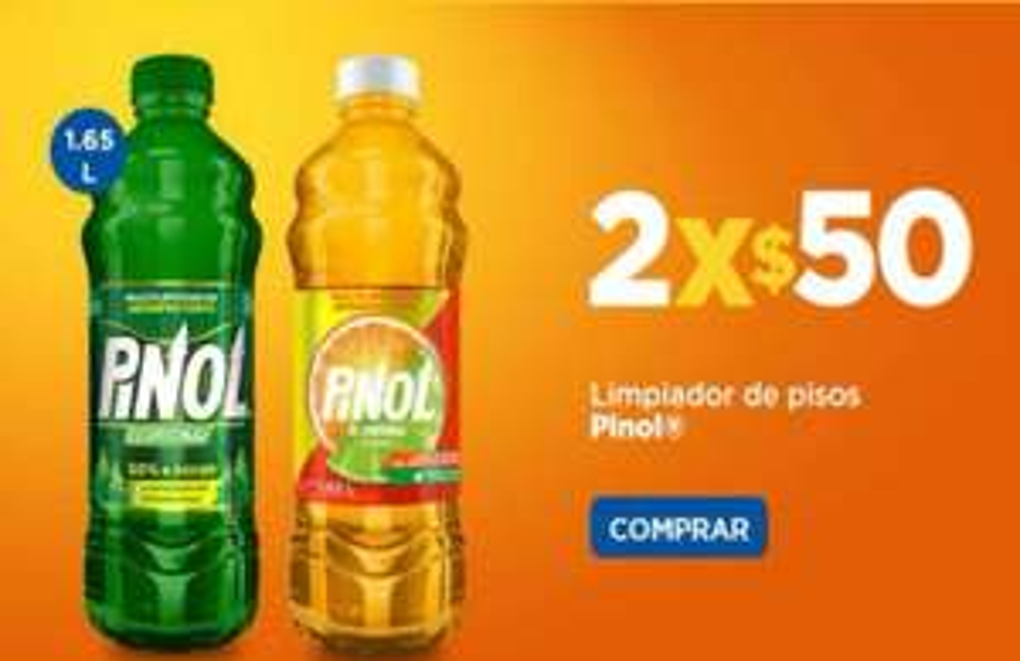 Chedraui: Limpiadores Pinol 1.65 L 2 x $50